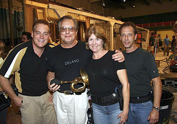 Jeffrey Haupt, William Friedkin, Ruby Haupt and Gregory Black take a break