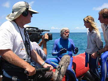 Lectrosonics gear on location with Jean-Michel Cousteau